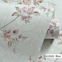 Europäische moderne 3D-geprägte Hintergrund-Hintergrundbilder für Wohnzimmer Schlafzimmer Damast-Blumen-Tapete Roll-Desktop-Dekor-Wandpapiere