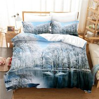 Bedding Sets Snow Tree Set For Bedroom Soft Bedspreads Bed Home Comefortable Duvet Cover Quilt And Pillowcase