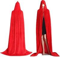 Grneric Christmas Halloween Hexe Party Cosplay Kostüme Kap mit Kapuze Velvet Mantel für Männer und Womens