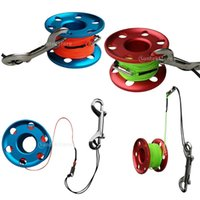 Pool & Accessories Elastic Finger Spool Reel Line With Steel Double End Snap Swivel Connector Diving Scuba Dive Tech