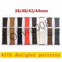 Новый дизайн кожаный ремешок для Apple Watch Band Series 6 5 4 3 2 40 мм 44 мм 38 мм 42 мм браслет для пояса IWATCH O08