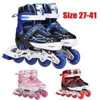 Pattini a rotelle in linea Bambini adulti professionali Ragazzi Ragazze Scarpe da pattinaggio Slalom Slolom Sneakers Sneakers rulli Puntini