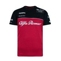 한 경주 짧은 소매 남성과 여성의 야외 익스트림 스포츠 오프로드 애호가 T 셔츠 여름 알파 로미오 팀 포뮬라