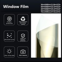 Uma maneira de espelho de janela Filme auto-adesivo reflexivo filme solar privacidade janela tint adesivos 30/40 / 50/60 / 70x400cm