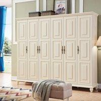가구 침실 단단한 나무 간단한 미국 가정용 슬라이딩 도어 로커 옷장