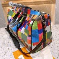 Erkek Seyahat Bagaj Duffel Çanta Kadın Lüks Tasarımcılar Çanta 2021 Erkekler Için Sırt Çantası Moda Bavul Renkli Izgara Bavullar Bayan