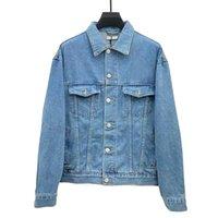 Hohe Qualität Männer Frauenjacke Herbst Winter Langarm Revers Jeans Lässige Massivfarbe Straße Kleidung Mode Multi Pocket Jean