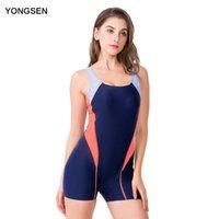 Abiti da un pezzo Yongsen Donne Stampa Pantaloncini da surf con imbottitura Bagna per costume da bagno Costume da bagno Body Professional Sport professionistici Beachwear