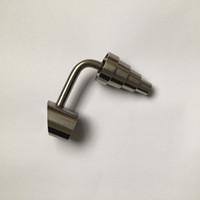 Domlessless 90 gradi Titanio Nail Universal Titanium GR2 Chiodi 10mm 14mm 18mm Maschio / femmina GR2 DABBER PER BARRA PER RIP PILS GLASS BONG SM