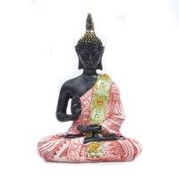 Resina creativa Buda Estatua Esculturas Sureste Asia Buddhism Mini Figurines Sala de estar Adorno de escritorio Decoración del hogar