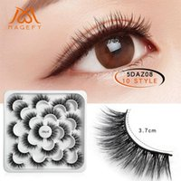 False Eyelashes 10 Pairs Of Lotuses With 5D Mink And Natural Dense Extension Makeup Tools Faux Cils Lashes