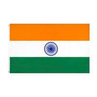 الهند العلم كبير 3x5 قدم القدم الهندي الأعلام الوطنية راية 90 * 150 سنتيمتر البوليستر مع النحاس الحلقات الرئيسية حديقة جدار ديكور