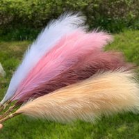 Decorative Flowers & Wreaths 120cm Artificial Pampas Grass Dried Reed Bouquet Fake Plant DIY Handmade Wedding Party Home Decoration Flower