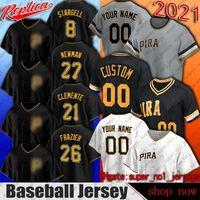 Pittsburgh 21 Roberto Clemente Jersey Baseball 8 Willie Stargell Jerseys Adam Frazier Kevin Newman Mitch Keller Jersey Gregory Polanco Hayes