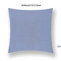 45*45cm Plaid Stripes Pillow case Sofa Waist Cushion Cover Car Decoration Solid Color Thicken Pillowcase Home Bed Supplies CCE10711