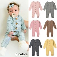 Baby Rompers Spring Striped Infant Rompers Newborn Button Jumpsuits Long Sleeve Toddler Cotton Outfits Boutique Children Clothing YFA2882