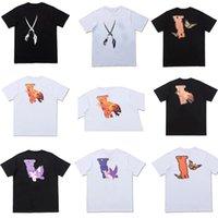 Yaz Erkek Stylist T-shirt Erkek Kadın Moda Tee Harfler Baskı Marka Giysi Sokak Rahat Tees Çiftler T-Shirt Boyutu S-2XL