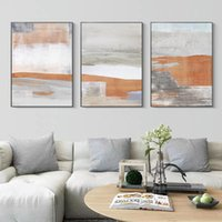 Paintings Modern Orange Abstract Scenery Canvas Painting Nordic Posters And Prints Minimalism Wall Art Pictures For Living Room Home Decor