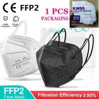 KN95 FFP2 CE-Maske N95 EU-Whitelist-Atemschutz-Filter Anti-Nebel-Dunst- und Influenza-DUSTROOF wiederverwendbare Masque 5-Schicht-genehmigte Schutz Mascarillas auf Lager