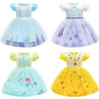 kids clothes girls Mermaid dress Children lace Net yarn princess Dresses summer fashion Boutique baby Clothing Halloween Cosplay Costume Z3867