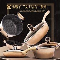 Золотая алмазная королева серии сковорода не палочка сковороды бытовой стоковой подачей акционерной плиткой
