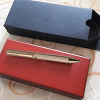 Envio GRATIS ! Bolígrafo del regalo de la pluma de AP Metal Golden / RoseGolden / Silver / Negro a cuadros Caja de madera roja Ballpoint Pen Clásico de lujo Buena calidad