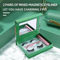 False Eyelashes Magnetic 3D Lashes Eyeliner Tweezer Cosmetics Tool Waterproof Long-wearing Eye Lash Extension Makeup TSLM2