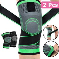 Outdoor Gadgets 2 PCS Elastic Knee Pads Brace With Bandage Joints Arthritis Protective Pressurized Support For Basketball Volleyball Running