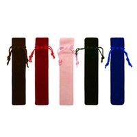 Único bolsa de caneta bolsa de canetas de flanela artesanal flanela saco de lápis marcador de caneta titular titular de armazenamento de armazenamento de manga cosmética bolsa DBC 5 cores