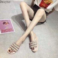 2020 جديد أزياء لؤلؤة الصنادل النساء شقة أسفل البرية غير الانزلاق المفتوحة تو فليب أحذية أحذية السيدات أحذية من، 19.85 | dhgate.com q4ju #