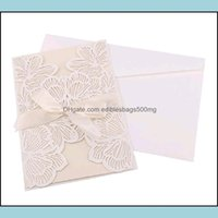 Greeting Event Festive Home & Garden20Pc 12*18Cm Invitation Bride And Groom Laser Cut Wedding Name Cards Invitations Red Gold Party Supplies