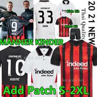 Jovic Eintracht Frankfurt Soccer Jerseys 2020 2021 Frankfurt Football Jerseys Silva Barkok Hinteregger Paciência Kamada Sow Men Kids Kit