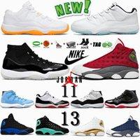 11 Avec la boîte Jumpman XI SE Metallic Gold 11 Hommes Chaussures de basket velours Héritière 25e anniversaire faible Bred Concord 72-10 Femmes Chaussures Taille 13