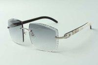 2021 Más nuevos diseñadores de alta gama Gafas de sol 3524022, Lente de corte Hidrato de búfalo híbrido natural Hidromas, Tamaño: 58-18-140mm