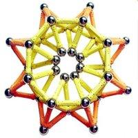 Magnetismo 2021 Nova Barra Magnética Cor Magnética Bolas Fantasia Descompressão Terno Brinquedo Montagem dos Blocos de Construção Brinquedos Q0723