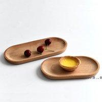 Деревянная тарелка для пищевой овальной десертной тарелки блюдо суши блюдо фрукты блюдо чайный серверный лоток деревянный держатель чашки чаша Pad Puard Ewe4837