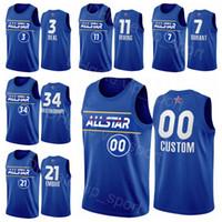 All-Star كرة السلة الفانيلة جيانيس antetokounmpo 34 كيري ايرفينغ 11 جيمس هاردن 13 برادلي بيل 3 كيفن دورانت 7 جويل zingiid جيسون تاتوم