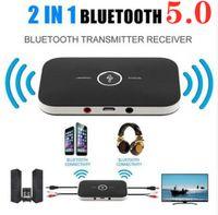 Bluetooth-Audio-Empfänger-Adapter-Wireless-Sender und Empfänger 2 in 1 3,5-mm-Buchse für TV-Home-Stereo-Systeme Kopfhörer-Lautsprecher