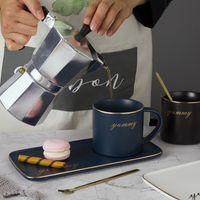 أصالة الزجاج بالتنقيط صينية القهوة السيراميك كوب الأزياء أداة البساطة دون ملعقة البليت بهلوان النمط الشمال اللوازم المنزلية 22BK K2