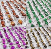 2021 Natural stone agate jade gemstone lapis lazuli Tigereye ring 13style 13 colors selection Mix size Lady girl Fashion ring
