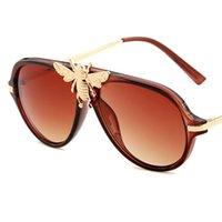 نظارات شمسية فاخرة للنساء أزياء uv حماية إطار معدني مصمم نظارات القيادة في الهواء الطلق نظارات
