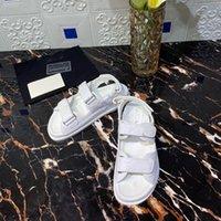 2021 neue frauenschuhe velcro flach runde spitze leder römisch strand sandalen dicke sohle komfortabel einfache suche alle lässig sandalen
