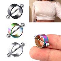 Nipple anneaux piercing acier inoxydable sexy pour femmes bouclier barbell poitrine bar de corps bijoux mode adulte jeu cadeau