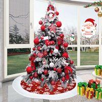 White Edge Snow Tree Skirt Christmas Decorations Fashion 100CM Tree Foot Carpet Mat Home Xmas Ornaments