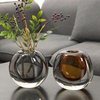 الأوروبية شفافة الزجاج زهرية الديكور الإبداعي ضوء غرفة المعيشة الفاخرة طاولة القهوة جولة زهرة الحاويات الديكور المنزل