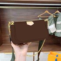 2021 패션 인쇄 핸드백 3-in-1 핑크 브랜드 메신저 백 여성을위한 PU 가죽 크로스 바디 가방 작은 지갑