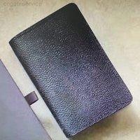 M60502 N63145 Organizer Pocket Carteira Cartão Titulares Mono Couro Compacto Bifold Bifold Curto Homens Pochette Carteiras Negócios Clipe de Cartão de Crédito