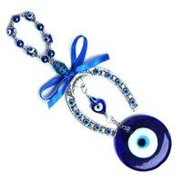 Декоративные объекты статуэтки турецкие голубые злые глаза подкова украшение настенные подвесные подвесные амулеты защитные ключа кольцо дома орнамент