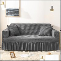 Chair Sashes Textiles Home & Gardenchair Ers Sofa For Living Room Slipers Pure Patchwork All-Inclusive Anti-Dust Couch Er Flexible Stretch 1