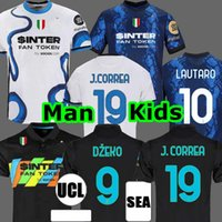Inter AC Camiseta de fútbol MILAN de Interlança soccer jersey IBRAHIMOVIC GIROUD BARELLA ERIKSEN LUKAKU LAUTARO 21 22 chandal de fútbol 2021 kit hombres + niños cuarto